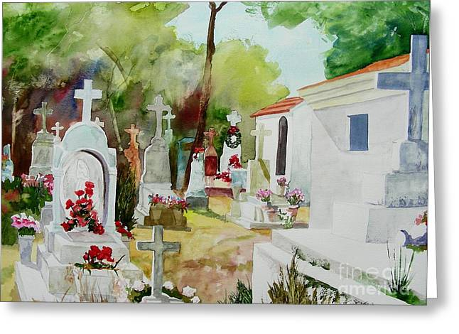 Greeting Card featuring the painting Final Resting Place by Tom Riggs