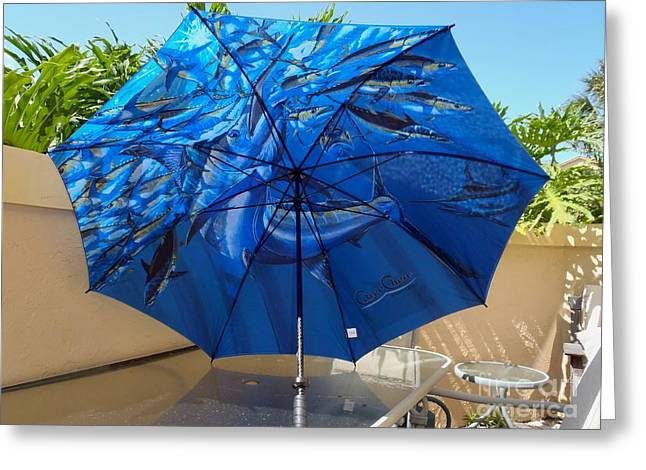 Fine Art Umbrella Greeting Card by Carey Chen