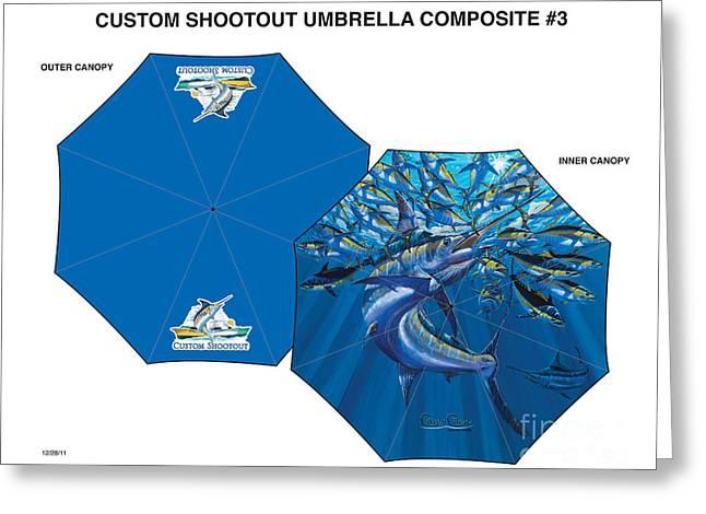 Fine Art Umbrellas Greeting Card by Carey Chen
