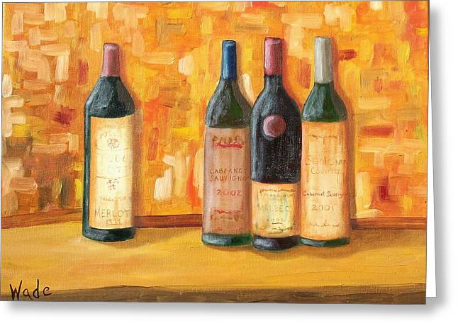 Fine Wine Selection Greeting Card by Craig Wade