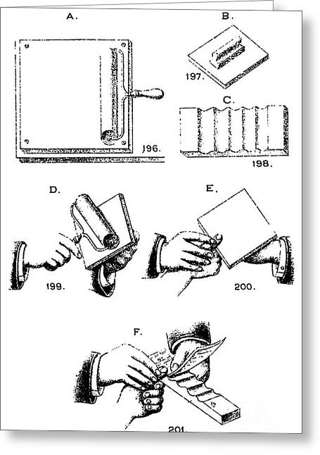 Fingerprinting Instructions, Circa 1900 Greeting Card by Science Source