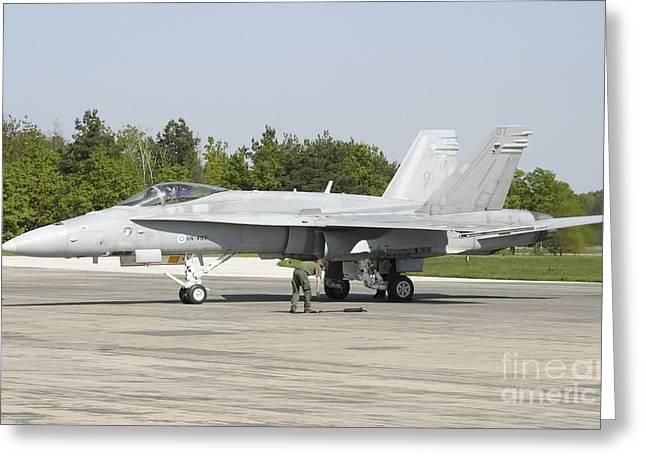 Finnish Air Force F-18c Hornet Greeting Card by Timm Ziegenthaler