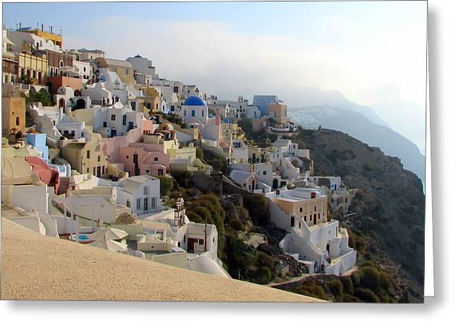 Fira In Santorini Greeting Card
