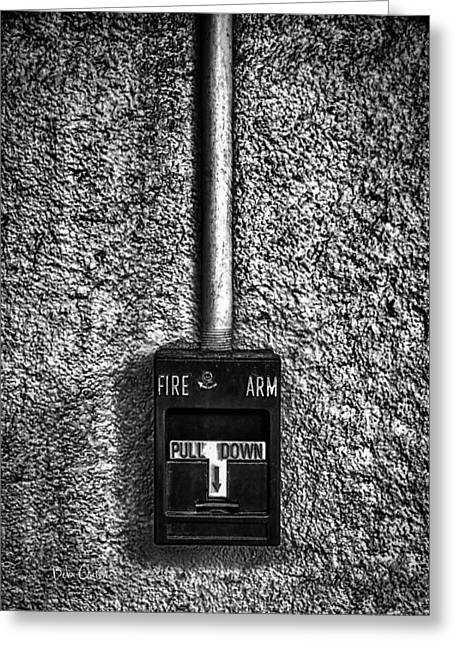 Fire Arm Pull Down Greeting Card by Bob Orsillo
