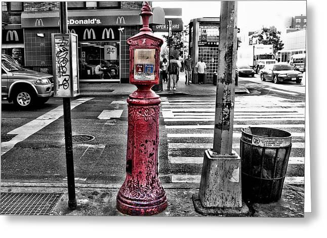 Fire Call Box Greeting Card by Bennie Reynolds