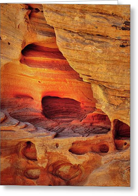 Fire Cave Greeting Card