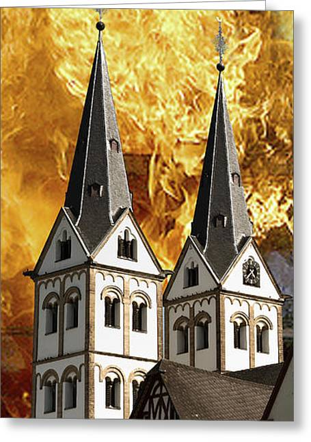 Fire Greeting Card by Cecil Fuselier