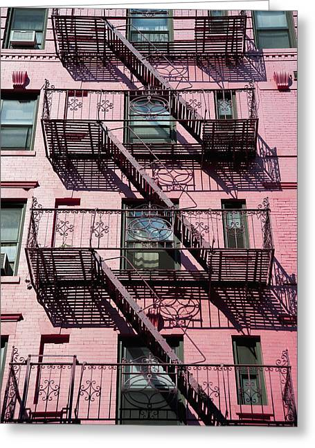 Fire Escape Greeting Card by Axiom Photographic