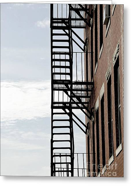 Fire Escape In Boston Greeting Card by Elena Elisseeva