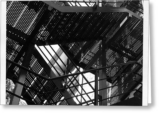 Fire Escape. #steel #construction Greeting Card