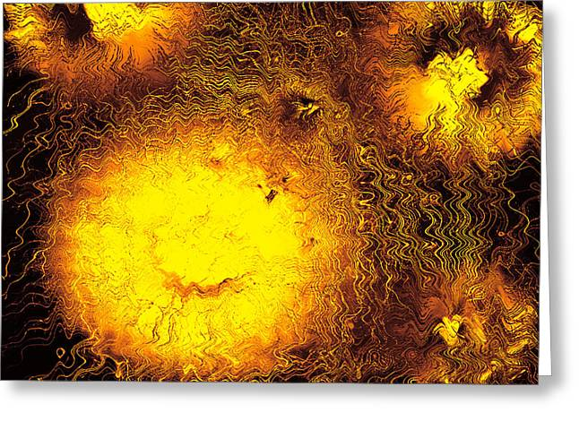Fire Explosions Greeting Card by Hans Engbers