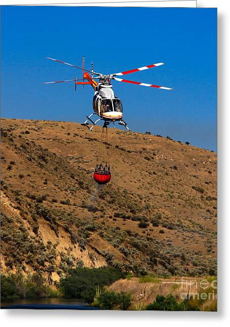Fire Fighting Greeting Card by Robert Bales