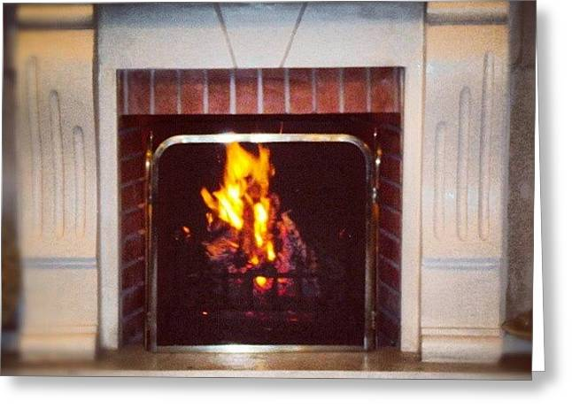 #fire #fireplace #classic #igaddict Greeting Card