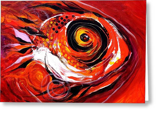 Fire Fish V Greeting Card