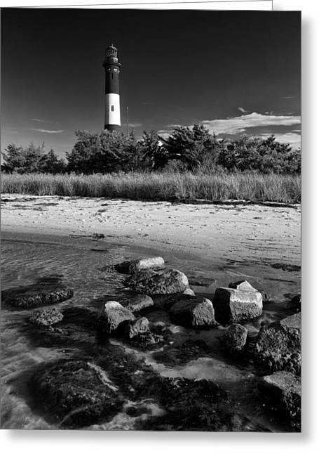 Fire Island In Black And White Greeting Card