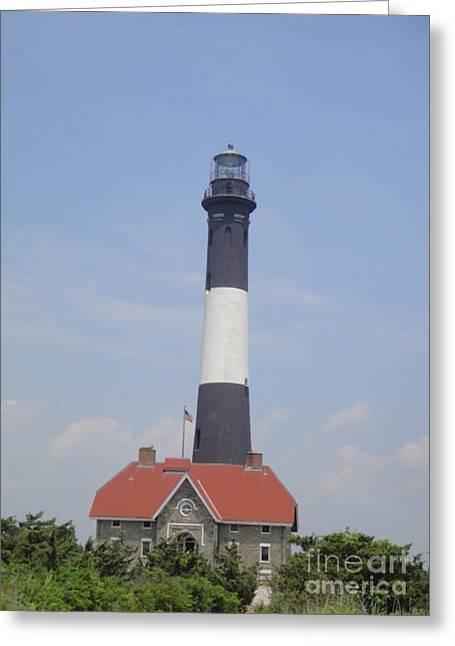 Fire Island Light House Greeting Card