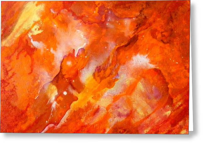 Fire Greeting Card by Jean LeBaron