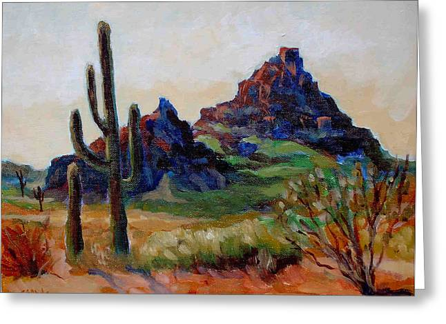 Fire Mountain  Greeting Card by Edward Abela
