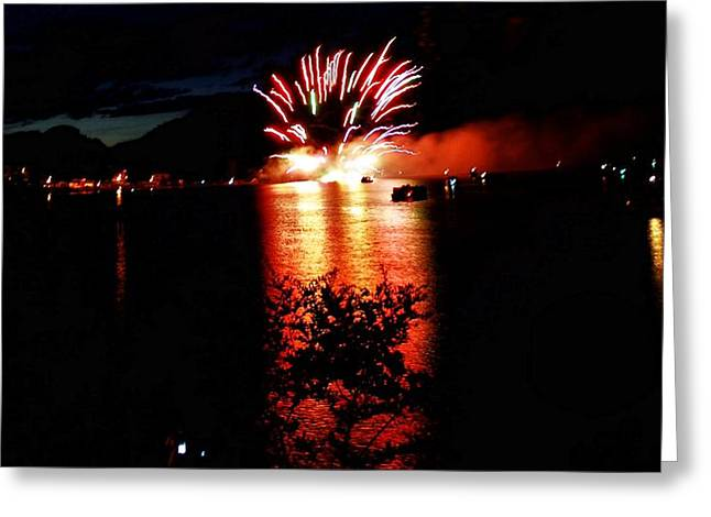 Fire Water Greeting Card by Don Mann