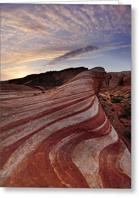 Fire Wave Greeting Card by Joseph Rossbach