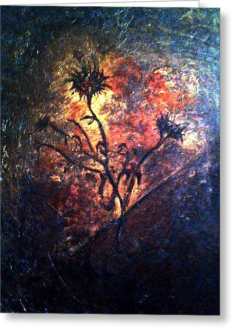 Fire Weeds Greeting Card