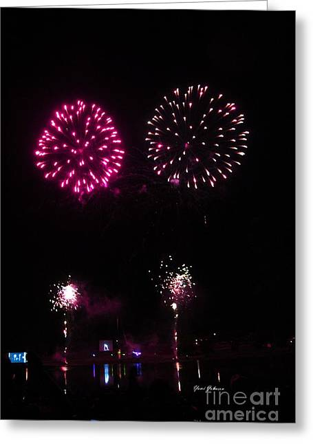 Fire Works Greeting Card by Yumi Johnson