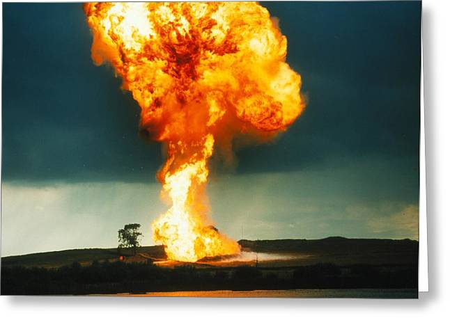 Fireball From Liquid Petroleum Gas Explosion Greeting Card