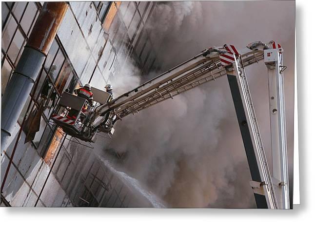 Firefighters Greeting Card by Ria Novosti