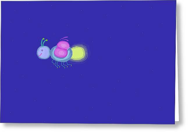 Firefly For R Greeting Card by Elizabeth  Sullivan