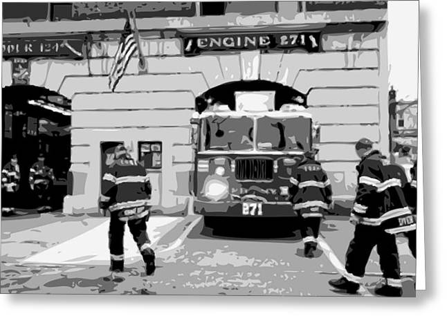 Firehouse Bw6 Greeting Card