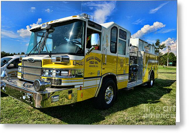 Fireman - Amwell Valley Fire Co. Greeting Card by Paul Ward
