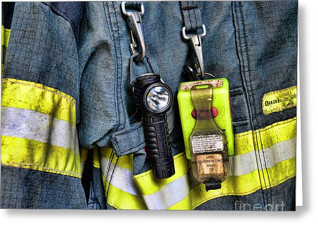 Fireman - The Fireman's Coat Greeting Card by Paul Ward