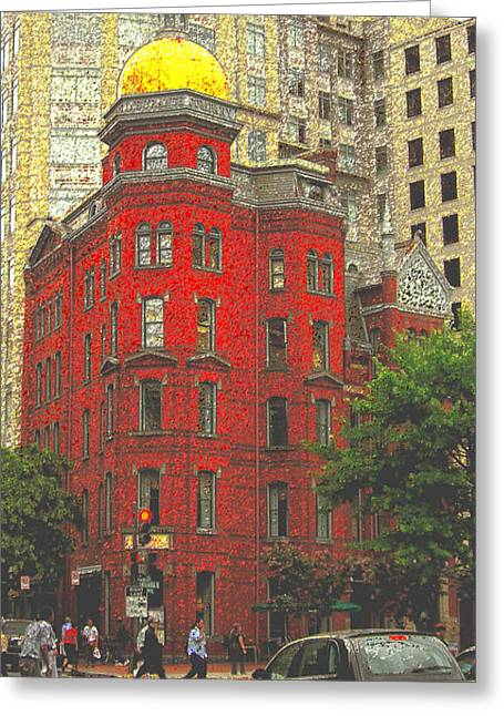 Firemans Building Greeting Card