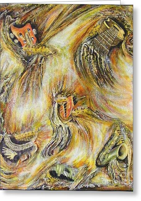 Fires Of Worship Greeting Card by Lisa Golem