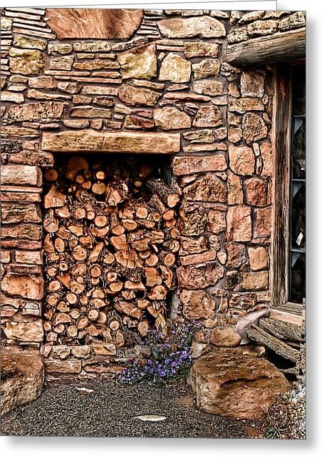 Firewood Greeting Card by Tom Prendergast