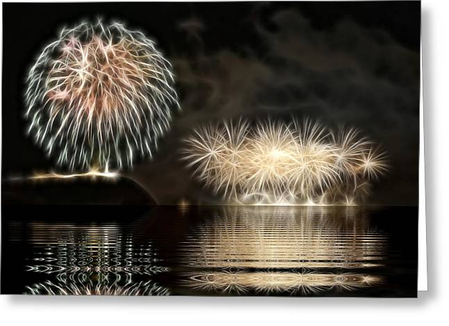 Firework Greeting Card by Odon Czintos