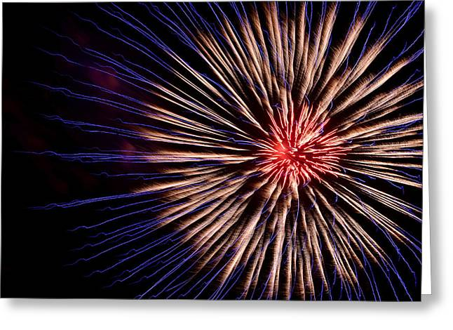 Firework Greeting Card by Victoria Wise
