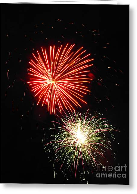 Fireworks 04 Greeting Card by Ausra Huntington nee Paulauskaite