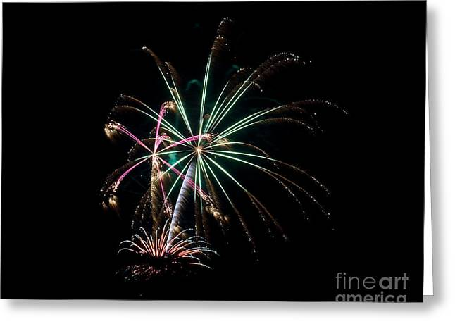 Greeting Card featuring the photograph Fireworks 11 by Mark Dodd