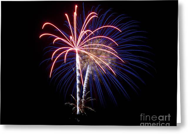 Greeting Card featuring the photograph Fireworks 12 by Mark Dodd