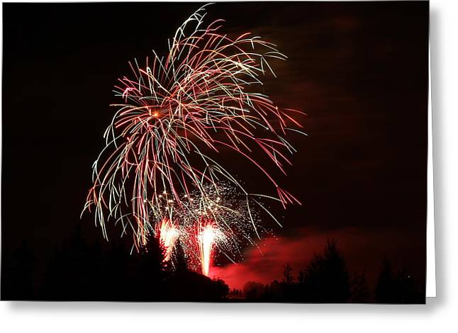 Fireworks 4 Greeting Card by Donna Barker