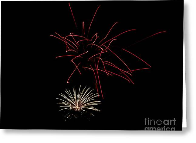 Greeting Card featuring the photograph Fireworks 6 by Mark Dodd