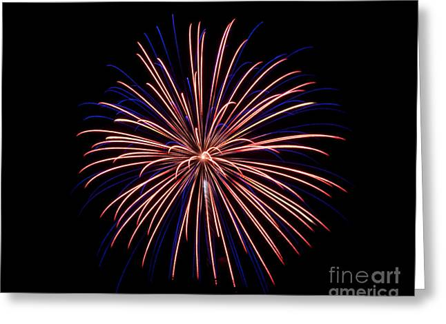 Greeting Card featuring the photograph Fireworks 7 by Mark Dodd