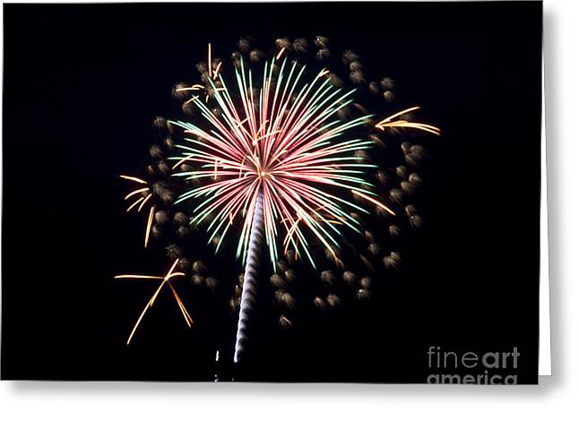 Greeting Card featuring the photograph Fireworks 9 by Mark Dodd