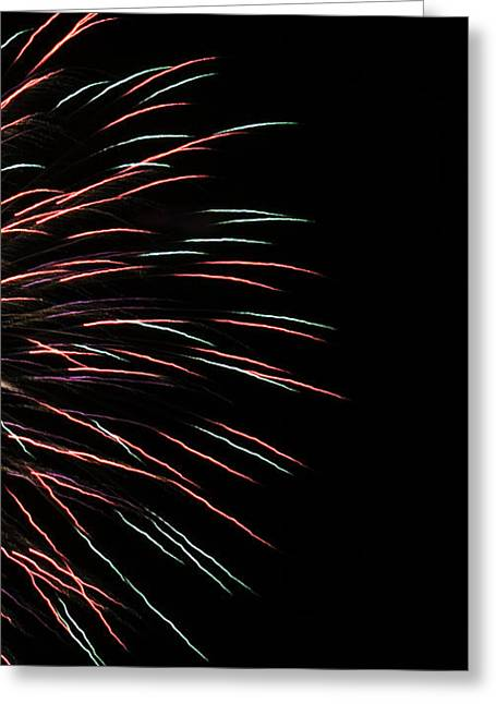Fireworks Abstract 1 Greeting Card by Marilyn Hunt