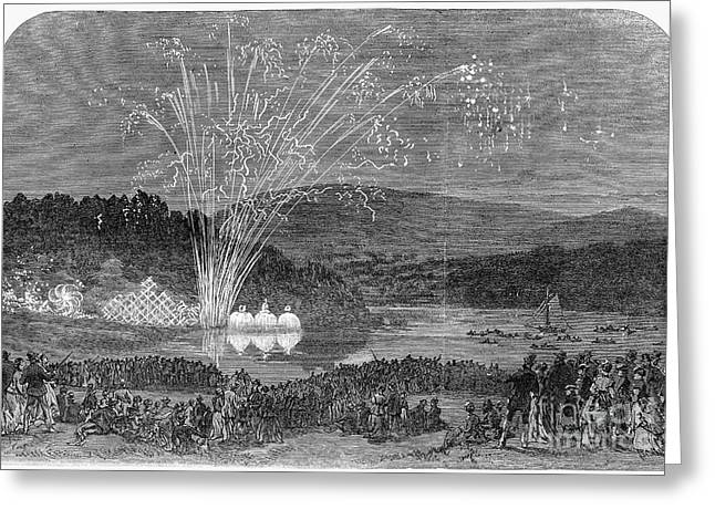Fireworks At Christiania Greeting Card