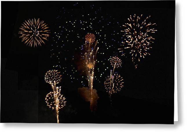 Fireworks Greeting Card by Bill Cannon