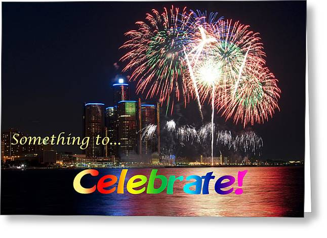 Fireworks Card Greeting Card by George Hawkins
