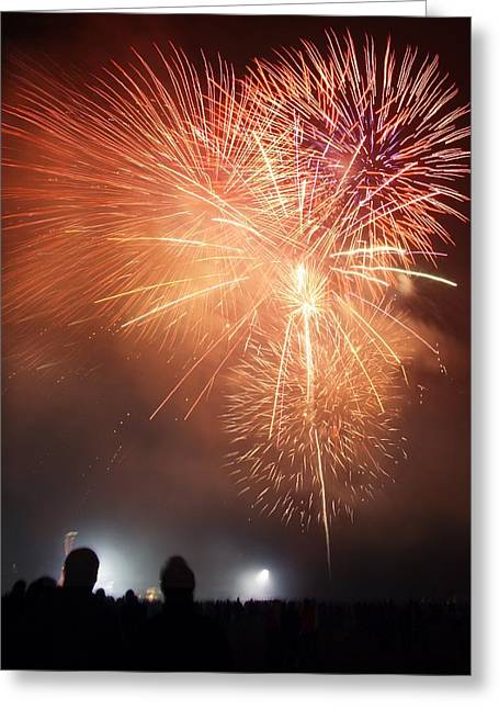 Fireworks Display Greeting Card by Cordelia Molloy