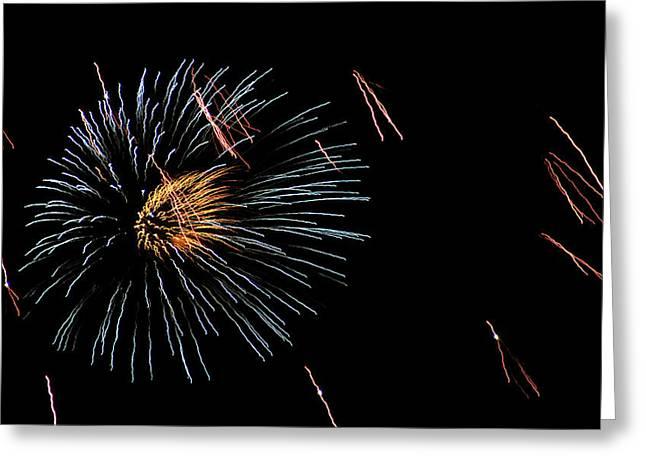 Fireworks Fun 1 Greeting Card by Marilyn Hunt